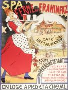 Vintage cafe advertisement poster - ferme de frahinfaz